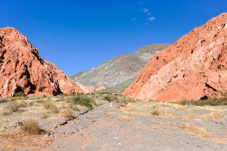 siete: Colorful chains of Cerro de los Siete Colores in the Quebrada de la Humahuaca,  Argentina