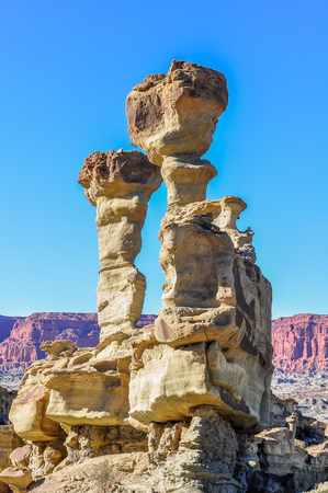 unesco: The Submarine rock formation in the UNESCO World Heritage Ischigualasto Park in Argentina