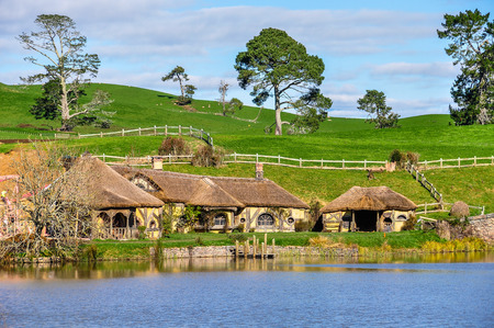 Green Dragon Inn in Lord of the Rings location Hobbiton, Matamata, New Zealand