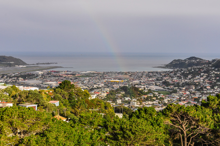 australasia: Rainbow in the bay area in Wellington, New Zealand