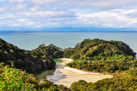 secluded: Secluded Frenchman Bay in the Abel Tasman National Park in New Zealand