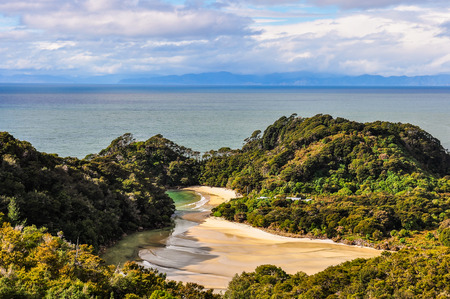 tasman: Secluded Frenchman Bay in the Abel Tasman National Park in New Zealand
