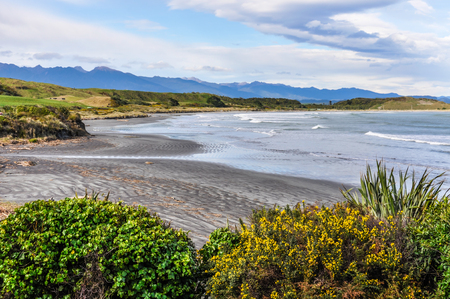 secluded: Secluded beach in Cape Foulwind on the West Coast of New Zealand