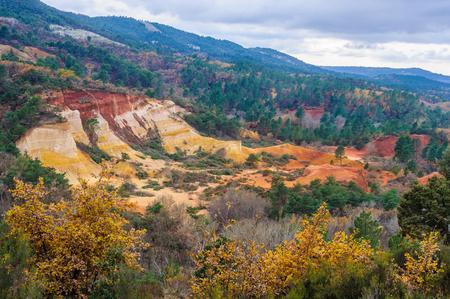 ochre: Ochre mines in the Colorado Provenzal, Provence, France