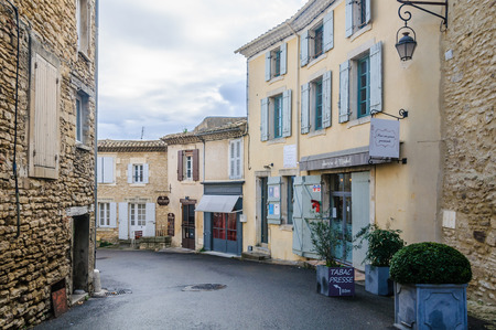 luberon: Tranqullity in the medival village of Gordes, the Luberon Region of Provence, France