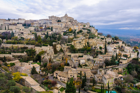 luberon: View of the hilltop village Gordes in the Luberon Region of Provence, France