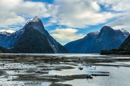 mitre: The Mitre Peak in the Milford Sound, one of the most beautiful fiords in New Zealand
