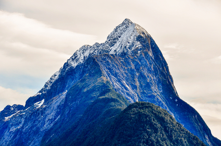 mitre: Mitre Peak from close range in the Milford Sound, one of the most beautiful fiords in New Zealand