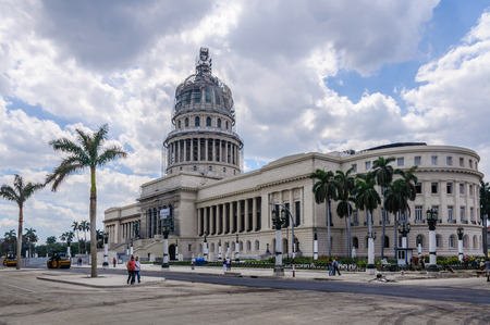 capitolio: Works in the Capitolio building in Havana, the capital of Cuba Stock Photo
