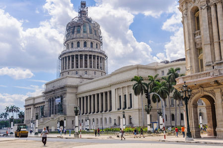 capitolio: Works in the Capitolio building in Havana, the capital of Cuba Editorial