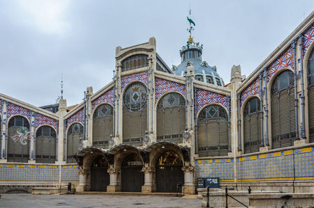 mercado central: The Central Market in the city of Valencia, Spain