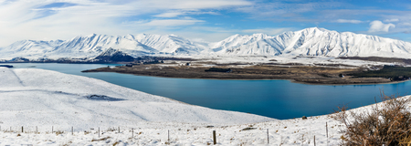tekapo: Panoramic view of Lake Tekapo, Southern Island of New Zealand