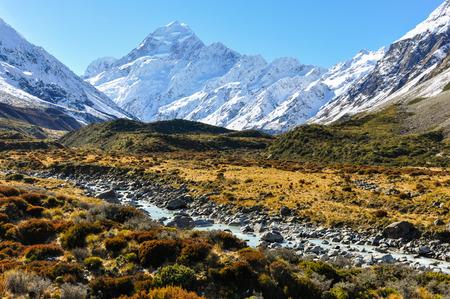 Hooker Valley in the AorakiMount Cook National Park, New Zealand