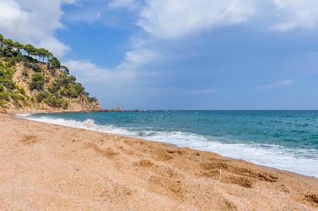 Platja Fonda Beach near Begur in the Costa Brava, Spain Stok Fotoğraf