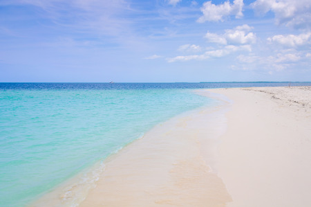 Alone in a secluded white sand beach in the tropical Cayo Levisa Island in Cuba Stock Photo