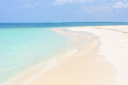secluded: Alone on a secluded white sand beach in the tropical Cayo Levisa Island in Cuba