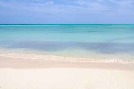 secluded: Secluded white sand beach in the tropical Cayo Levisa Island in Cuba