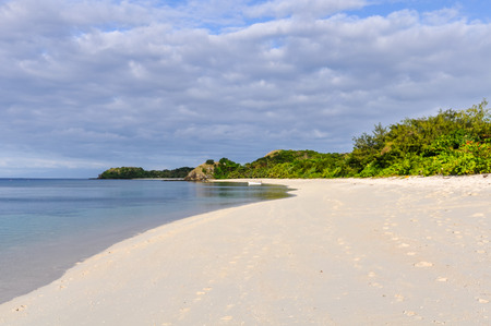 secluded: View of a secluded beach on Mana Island, Fiji