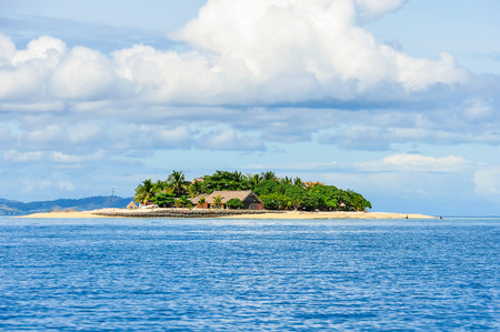 View of tiny Beachcomber Island in Fiji