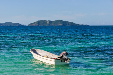 castaway: View of Castaway Island, the location of the Castaway movie with Tom Hanks in Fiji Editorial