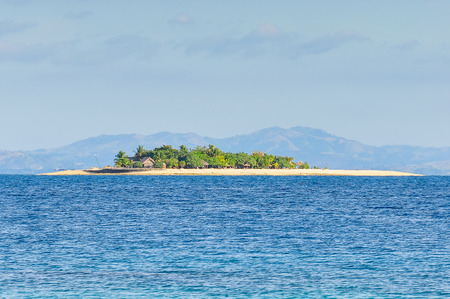 bounty: View of the tiny Beachcomber Island from Bounty Island in Fiji