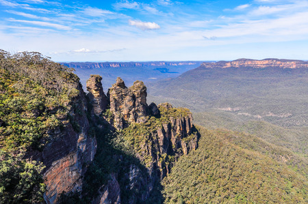 The Three Sisters rocks in the Blue Mountains, Australia
