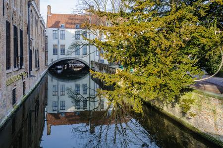 Saint Bonifacius Bridge in the UNESCO World Heritage Old Town of Bruges, Belgium