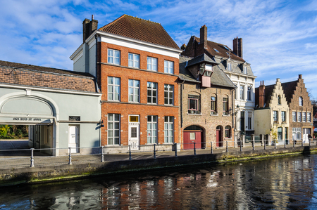 Flemish buildings in the UNESCO World Heritage Old Town of Bruges, Belgium