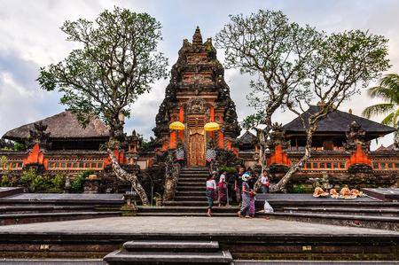 Saraswati Temple in the town of Ubud, Bali