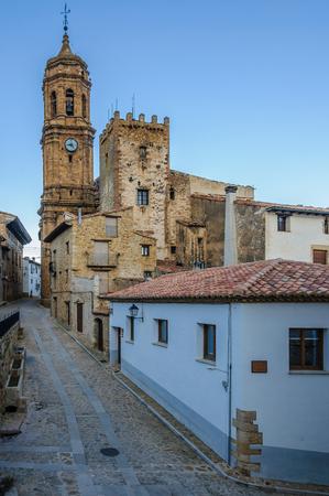 cid: Street view in La Iglesuela del Cid, Aragon, Spain