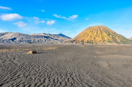 Mount Bromo and Mount Batok on Java Island, Indonesia