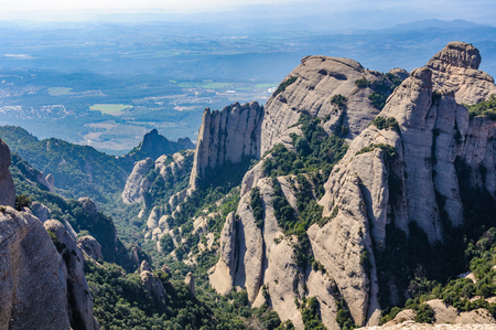 View of a valley in Montserrat Mountain, Catalonia, Spain