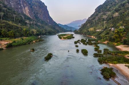 Riverside shot on the Nam Ou River in Nong Khiaw, Laos