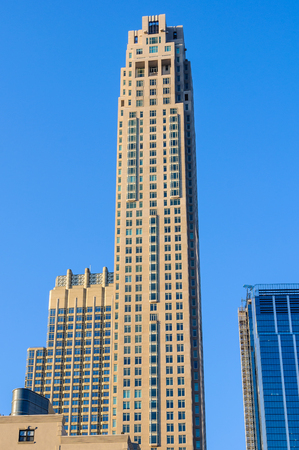 One Wall Street, a skyscaper in Lower Manhattan in New York City, USA