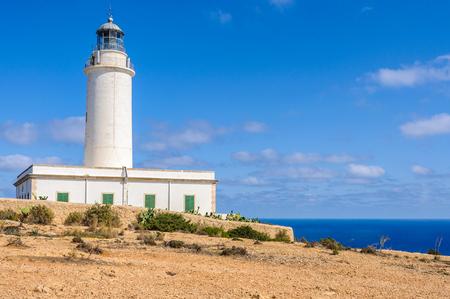 Lighthouse near Pilar de la Mola in Formentera Island, Spain