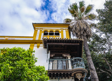 Old building in the Jewish Neighborhood in the Andalusian capital, Sevilla in Spain