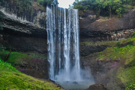 Tad Katamtok Waterfall in the Bolaven Plateau, Southern Laos Stock Photo