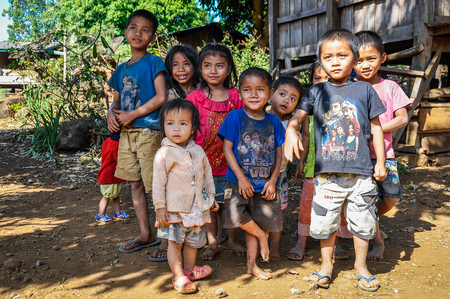 Local family in the Bolaven Plateau, Southern Laos