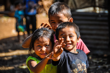 Cute local kids in the Bolaven Plateau, Southern Laos