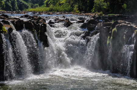 Tad Pasuam Waterfalls in the Bolaven Plateau, Southern Laos Stock Photo
