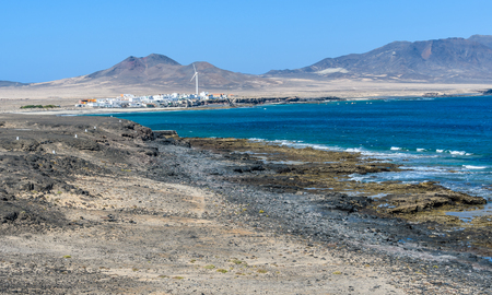 Fishermens village on Jandia Peninsula in Fuerteventura, Canary Islands, Spain