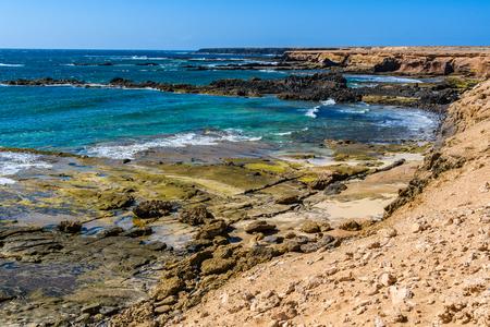 Playa Ojos, a hidden beach on Jandia Peninsula in Fuerteventura, Canary Islands, Spain