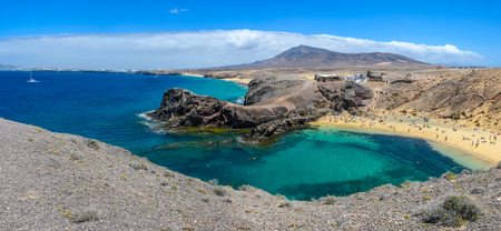 Playa del Papagayo in Lanzarote, Canary Islands, Spain