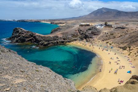 Playa del Papagayo in Lanzarote, Canary Islands, Spain