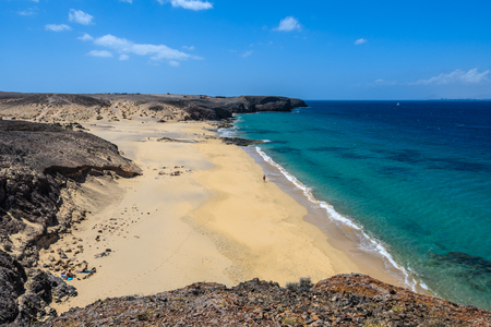 Playa del Pozo in Lanzarote, Canary Islands, Spain