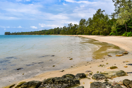 Beach in Koh Ta Kiev Island near Sihanoukville, Cambodia Stock Photo