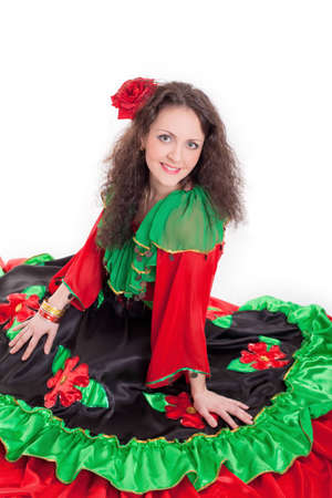 gipsy: the girl in a beautiful Gipsy dress