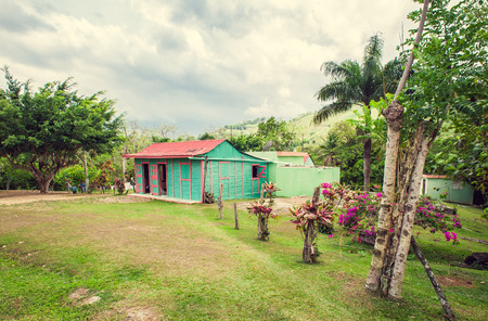 woden: poor woden cabins at the Dominican Republic, a island of Hispanola wich is a part of the Greater Antilles archipelago in the Carribean region