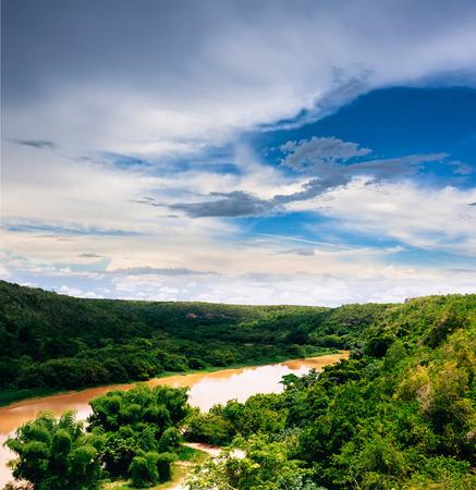 dominican republic: Tropical river Chavon in Dominican Republic