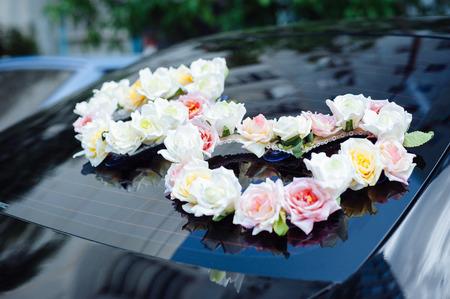 Hochzeit Auto Dekor Blumen Blumenstrauß Auto Dekoration Blumen